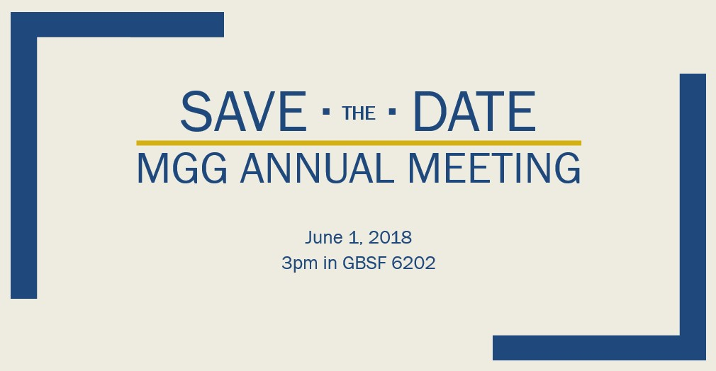 MGG Annual Meeting 2018